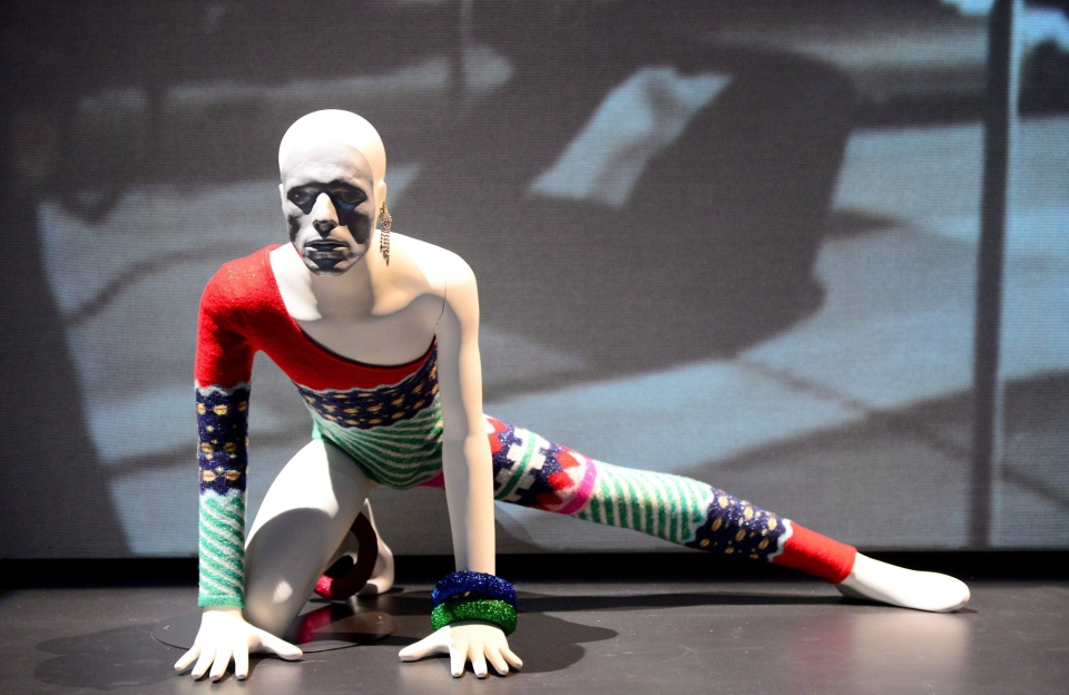"""A costume is shown at the VIP reception for the """"David Bowie Is"""" exhibition at the V&A Museum in London on Wednesday, March 20, 2013. An exhibition of objects from Bowie's personal archive will kick off a world tour at the Art Gallery of Ontario this fall. (Jon Furniss / THE CANADIAN PRESS)"""