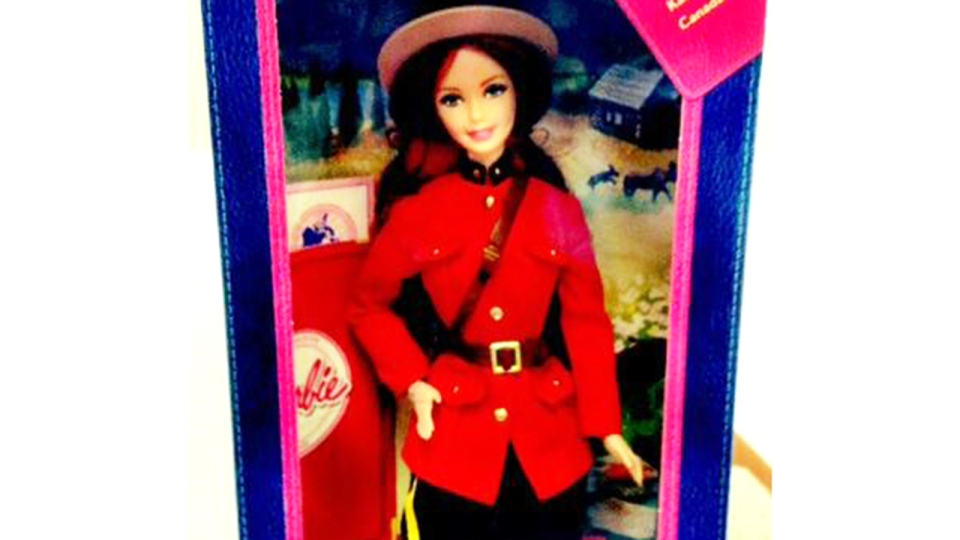 The RCMP Heritage Centre has announced that the 'Mountie Barbie' is now on sale at its gift shop. (RCMP Heritage Centre / Twitter)
