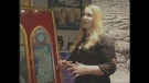 Artist Jesse Robertson discusses the challenges of painting with arthritis in London, Ont. on Tuesday, Sept. 24, 2013.