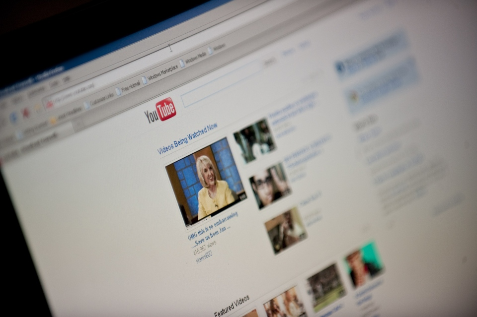 Popular video-sharing site YouTube is shown in this undated image. (AFP Photo/Nicholas Kamm)