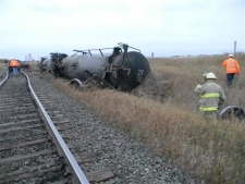Train derails near Landis, Sask.