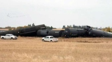 RCMP on scene of train derailment in Saskatchewan