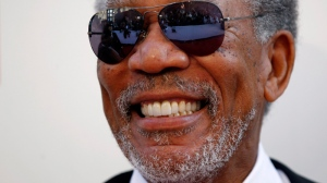 Morgan Freeman arrives at the taping of 'TV Land Presents: AFI Life Achievement Award Honoring Morgan Freeman' in Culver City, Calif., Thursday, June 9, 2011. (AP / Matt Sayles)
