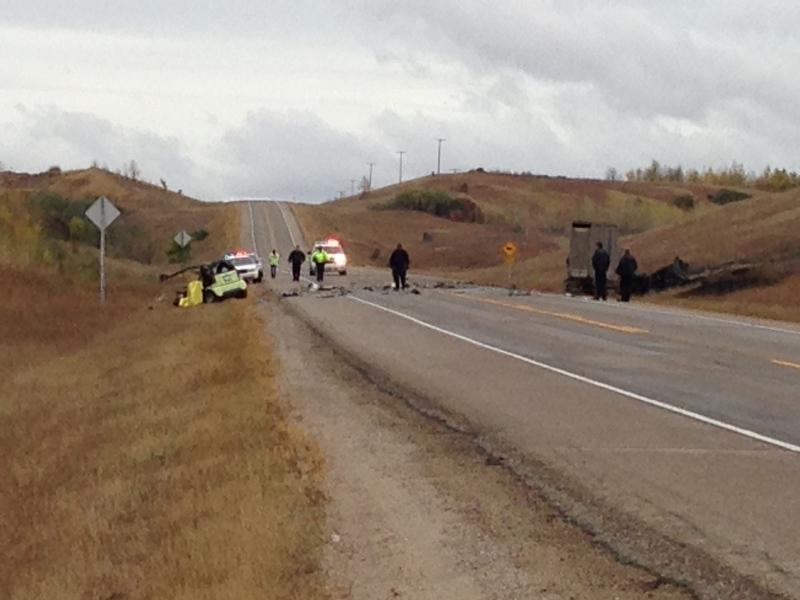 Blaine Lake RCMP are on the scene of a fatal two vehicle crash on HIghway 12 north of Saskatoon.