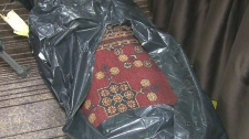heroin found woven into carpets