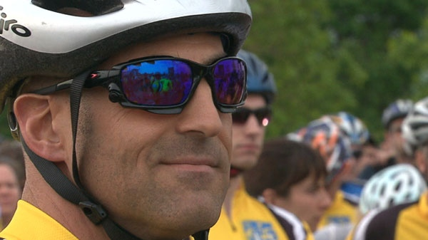The fourth-annual Ride to Conquer Cancer kicked off in Toronto on Saturday, June 11, 2011.