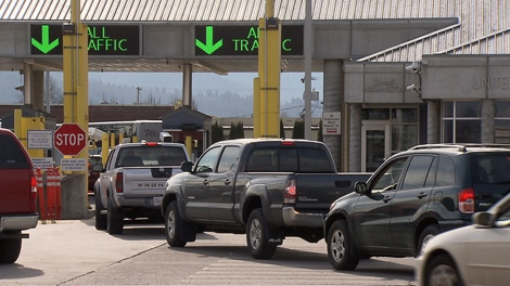 A U.S.-Canada border crossing is seen in this June 11, 2011 file photo. (CTV)