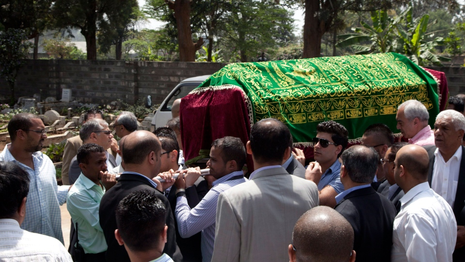 Funeral for victim of Nairobi mall attack