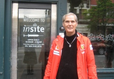 Former Insite user Chuck Parker stands in front of the supervised injection facility in the Downtown Eastside, Vancouver, B.C., Wednesday June 4, 2008.