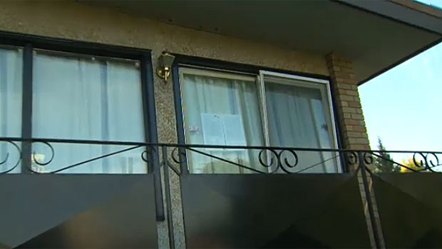 A sign is posted in the window of a Parkdale home that Andreas Pirelli, a self-proclaimed 'Freeman-on-the-Land' declared as his 'embassy' in 2011.