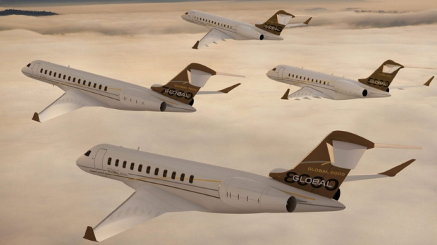 Bombardier Aerospace's Global Family jets Global 7