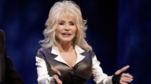 Dolly Parton during a news conference in Nashville, Tenn., to announce plans for a water-snow park Jan. 19, 2012. (AP / Mark Humphrey)