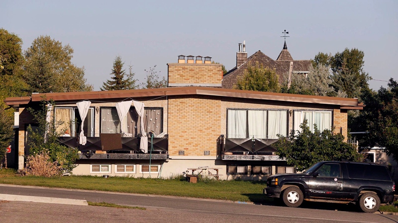 Rebekah Caverhill's disputed property is shown in Calgary, July 24, 203. (Jeff McIntosh / THE CANADIAN PRESS)