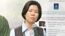 Coun. Kristyn Wong-Tam speaks about her push to ban shark fins in Toronto at City Hall on Monday, June 13, 2011.