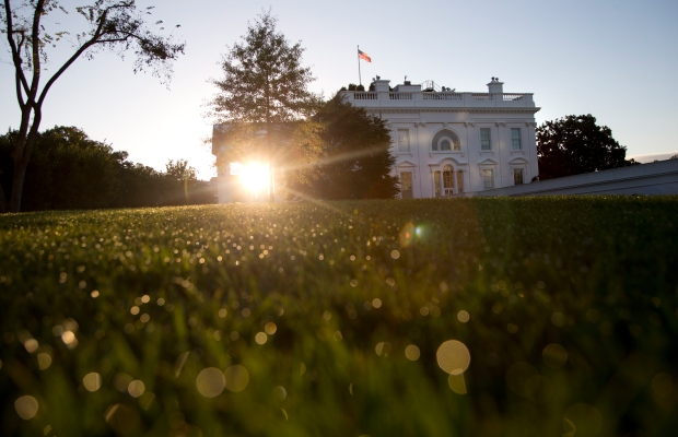 Sunrise at the White House on Sept. 29, 2013