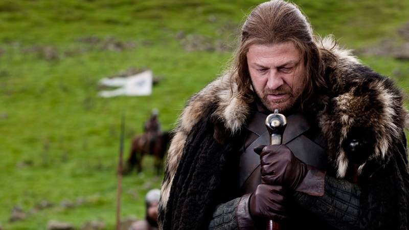 Sean Bean portrays Lord Eddard 'Ned' Stark in a scene from the HBO series 'Game of Thrones'