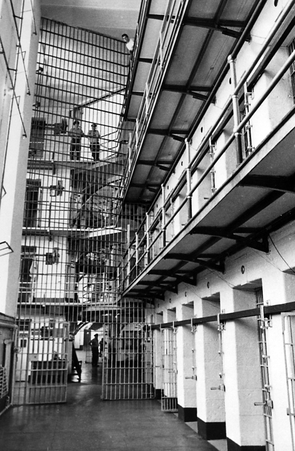 The cell block at Kingston Penitentiary is pictured on Sept. 10, 1969 file photo. (Chuck Mitchell/The Canadian Press)
