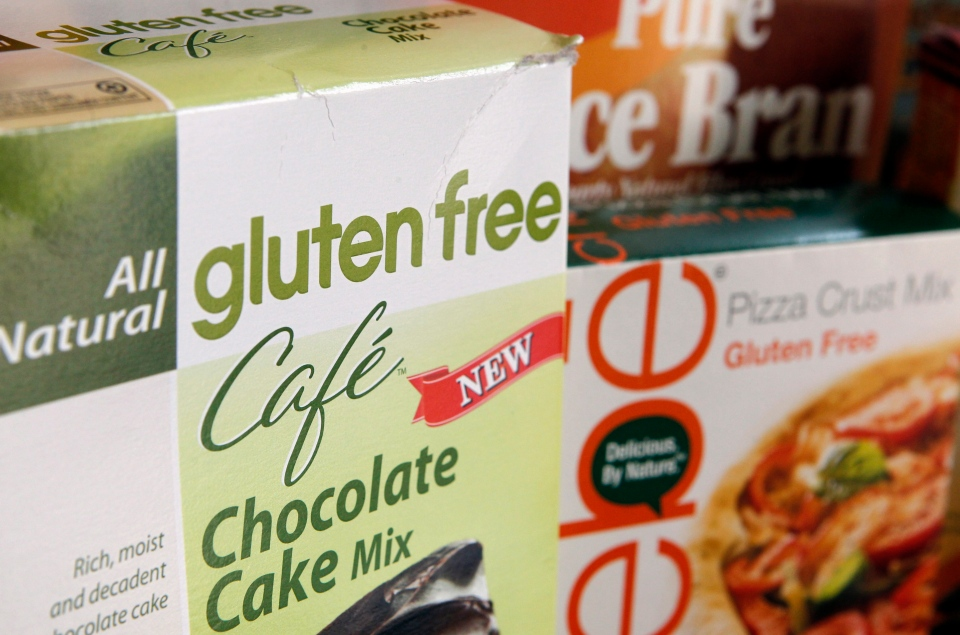 A variety of foods labeled gluten-free are displayed in Frederick, Md., Friday, Aug. 2, 2013. (AP /Jon Elswick)