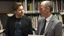Ewan McGregor and writer / director Mike Mills on the set of Focus Features' 'Beginners'
