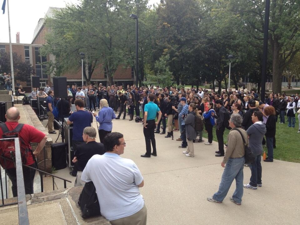 Walk out at University of Windsor