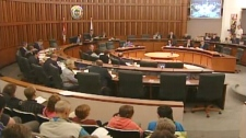 It was standing room only at Waterloo Regional Council as councillors prepared to vote on rapid transit on Wednesday, June 15, 2011.