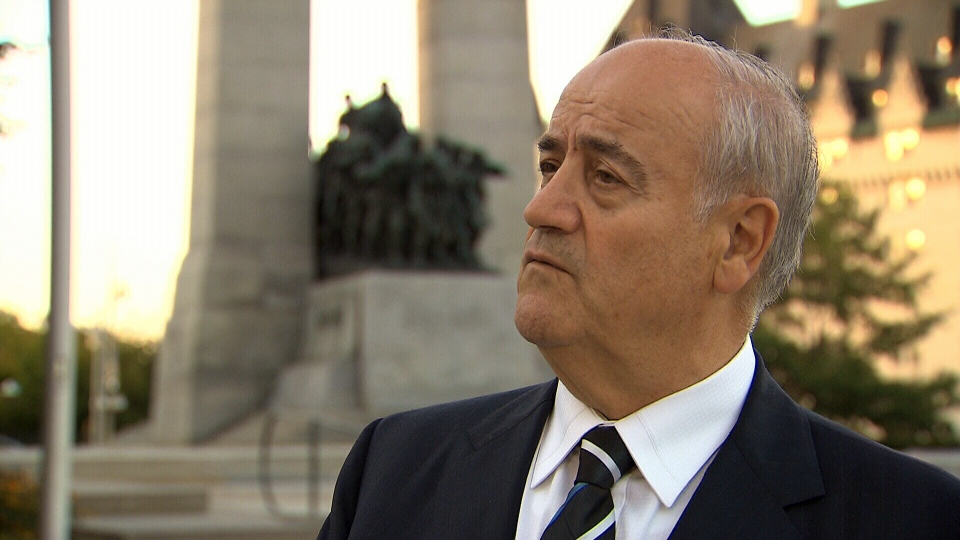 Veterans Affairs Minister Julian Fantino speaks to CTV in Ottawa, Tuesday, Oct. 1, 2013.
