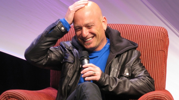 Howie Mandel received an award at the Banff World Media Festival this week. Mandel, in this June 14, 2011 photo, talks about his mental illness and the challenges he has had in his career. (Bill Graveland / THE CANADIAN PRESS)