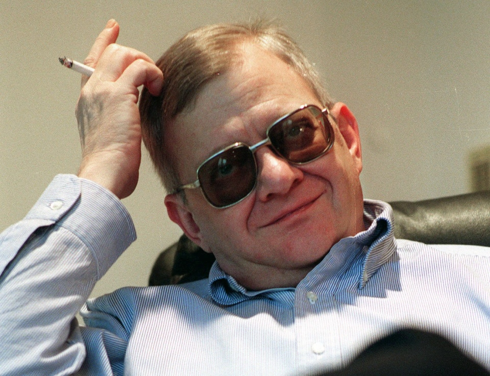 Tom Clancy appears at his home in Calvert County, Md., Feb. 4, 1998. (AP / Vince Lupo)