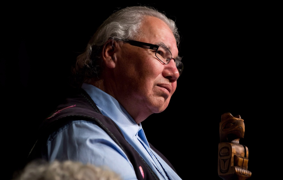 Truth and Reconciliation Commission Chair Justice Murray Sinclair listens during the Truth and Reconciliation Commission of Canada British Columbia National Event in Vancouver, on Wednesday, Sept. 18, 2013. (Darryl Dyck / THE CANADIAN PRESS)