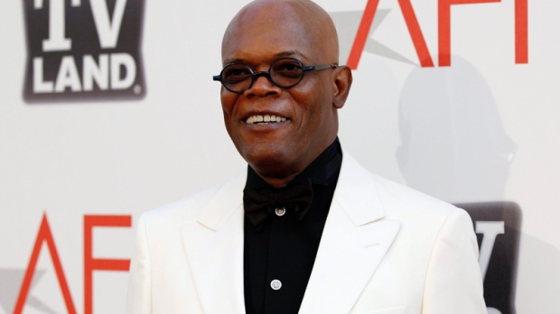 Samuel L Jackson arrives at the taping of 'TV Land Presents: AFI Life Achievement Award Honoring Morgan Freeman' in Culver City, Calif., Thursday, June 9, 2011. (AP / Matt Sayles)