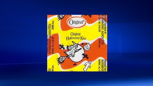 Original brand kiss halloween candy recalled
