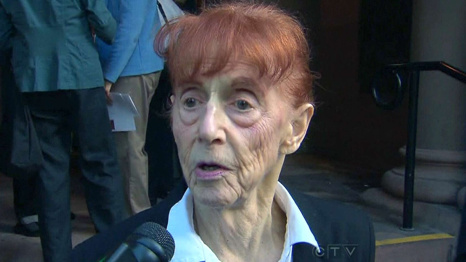 89-year-old Audrey Tobias speaks with CTV News before appearing in court in Toronto, Thursday, Oct. 3, 2013.