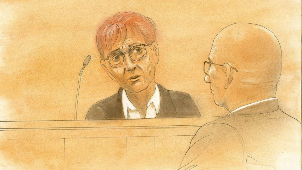 Audrey Tobias appears in a Toronto court for refusing to fill out the 2011 Census, Thursday, Oct. 3, 2013 (John Mantha / CTV Toronto)