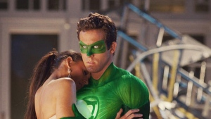 Blake Lively and Ryan Reynolds in Warner Bros. Pictures' 'Green Lantern.'