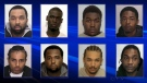 Police are looking for these men they say are alleged members of Galloway Boys gang.