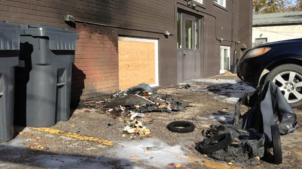 Police are looking into four fires that damaged vehicles, garages and garbage bins within a few blocks of each early Sunday morning.
