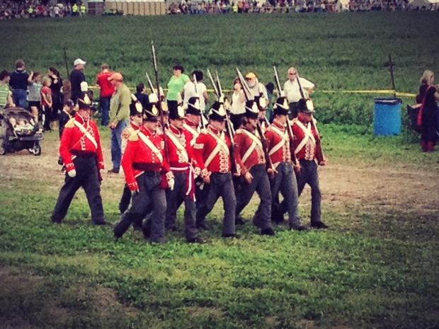 Battle of Thames (CC)/Battle of Thames soldiers marching (CC).jpg
