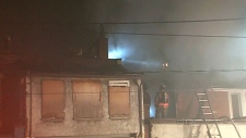 Fire at abandoned building on Bathurst Street