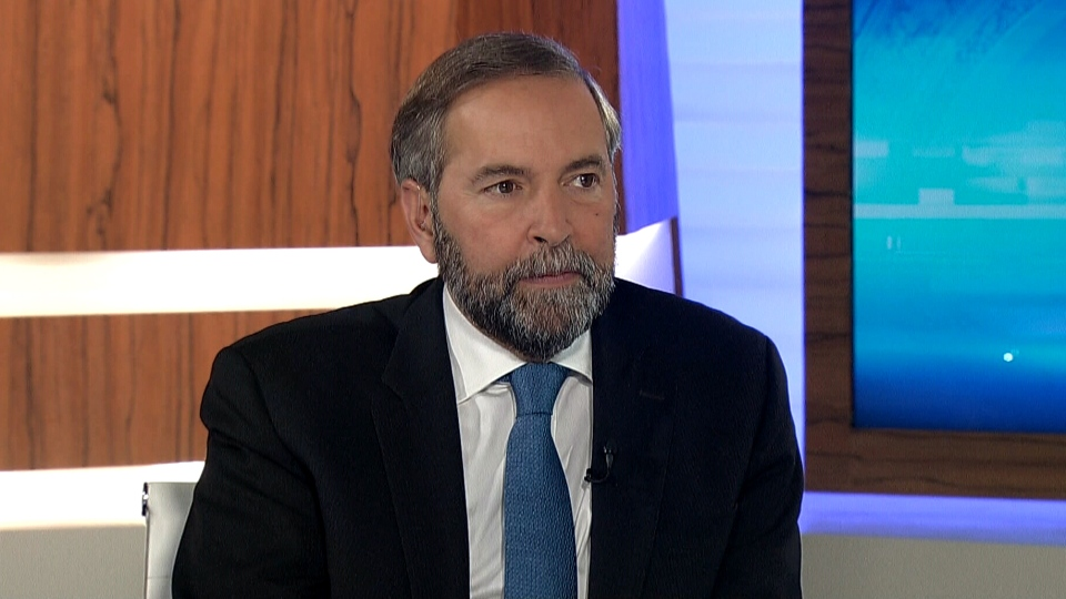 NDP Leader Thomas Mulcair appears on CTV's Power Play, Monday, Oct. 7, 2013.