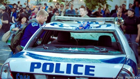 Nathan Kotylak turned himself in to police and made a public apology after pictures surfaced of him apparently participating in the Vancouver Stanley Cup riot. June 19, 2011. (CTV)