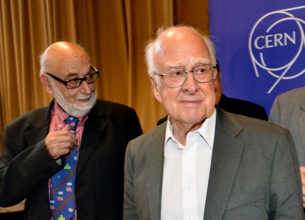 Francois Englert, left, and Peter Higgs