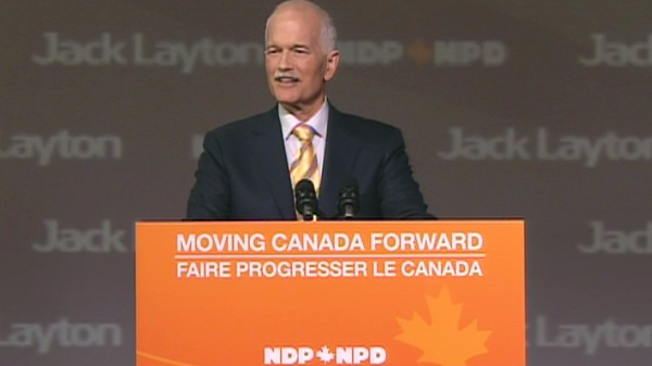 Jack Layton, the NDP leader speaks at the NDP convention in Vancouver on Sunday, June 19, 2011.