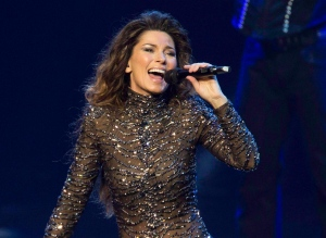 Shania Twain performs at The Colosseum at Caesars Palace in Las Vegas, Dec.1, 2012. (Eric Jamison / Invision / AP)