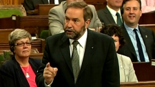 NDP MP Thomas Mulcair speaks in the House of Commons in Ottawa on Monday, June 20, 2011.