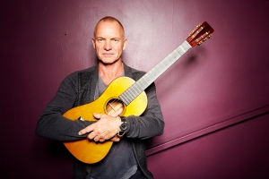 Sting poses for a portrait at New York's The Public Theater in this Sept. 26, 2013 photo. (AP / Invision / Dan Hallman)