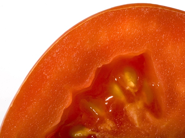 Displayed is a plum tomato in Philadelphia, Tuesday, June 10, 2008. The U.S. Food and Drug Administration warned consumers the outbreak was linked to eating certain raw tomatoes including red plum, red Roma and red round, and products containing these tomatoes. (AP / Matt Rourke)