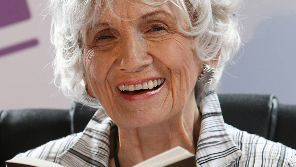 Decorated Canadian author Alice Munro has been named the winner of the Nobel Prize for Literature.  The 82-year-old writer is the first Canadian-based writer to secure the honour. (AP / Peter Morrison)