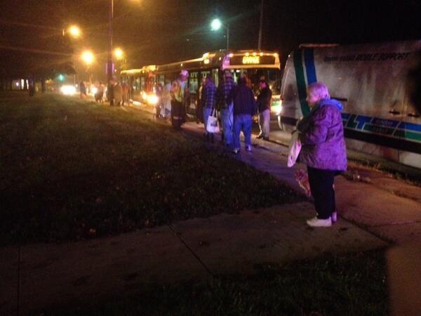 Bus houses residence after apartment fire
