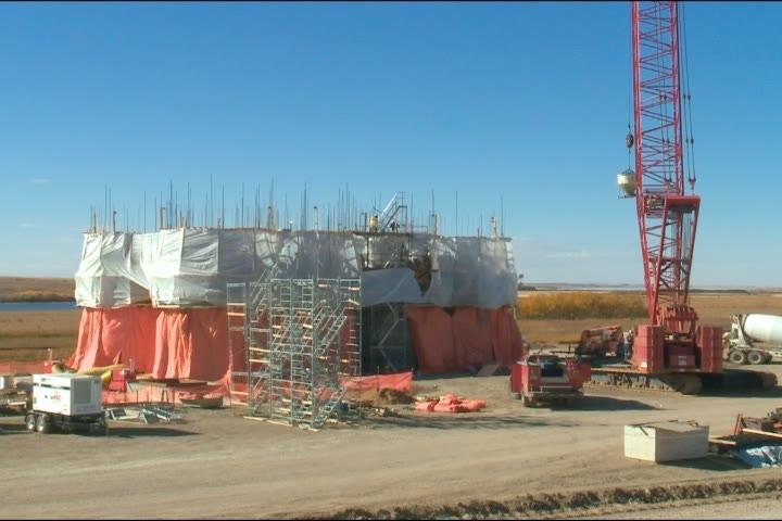 Construction is underway on a 55,000-tonne capacity facility inland grain terminal near Biggar.