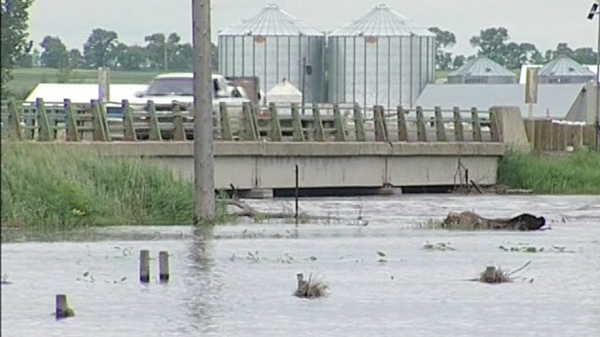 In Manitoba, areas along both the Assiniboine and Souris River have experienced widespread flooding due to heavy rains.